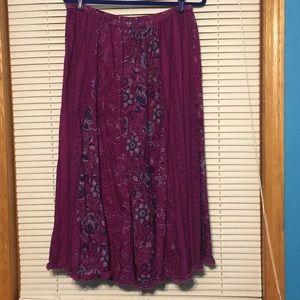 Purple Phool vintage broomstick skirt